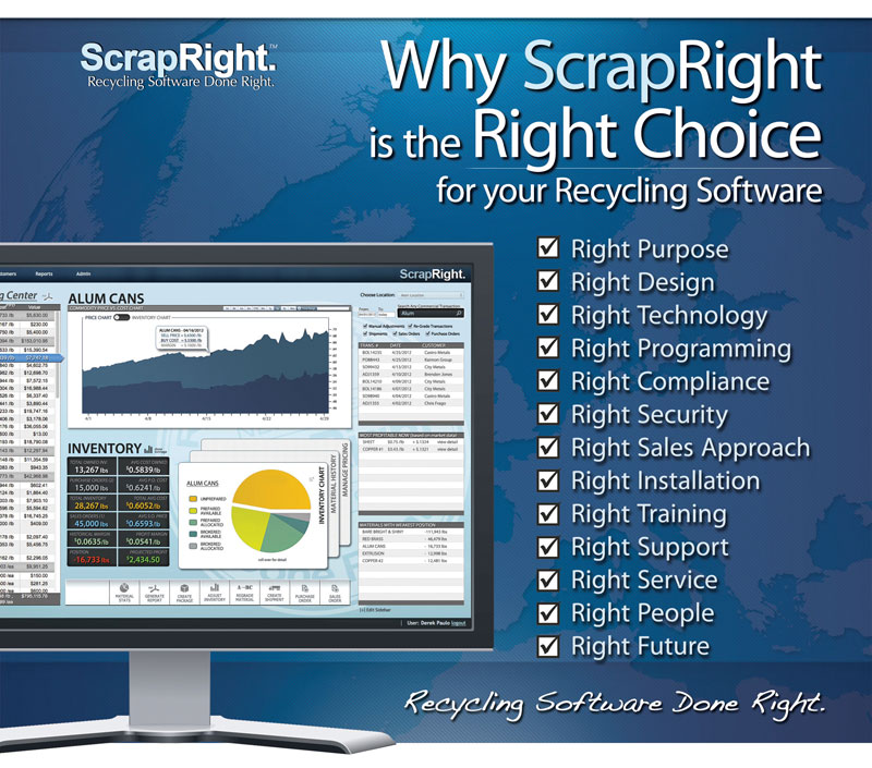 Why ScrapRight is the right choice for your scrap and recycling software