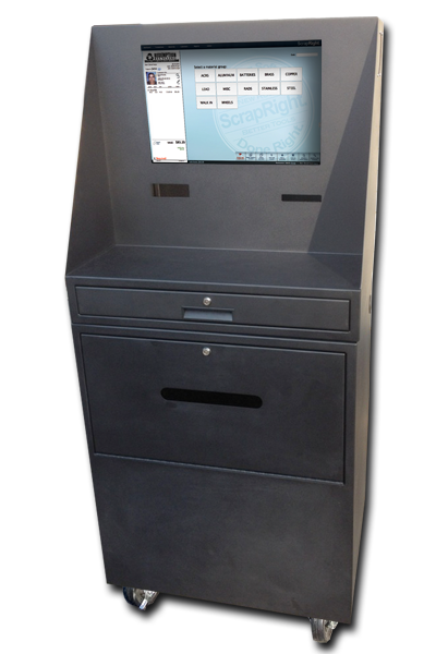 Kiosk Workstation Weighmaster buying station Scrapyard recycling recycle